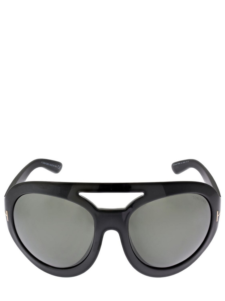 TOM FORD Serena Oversize Round Sunglasses in black