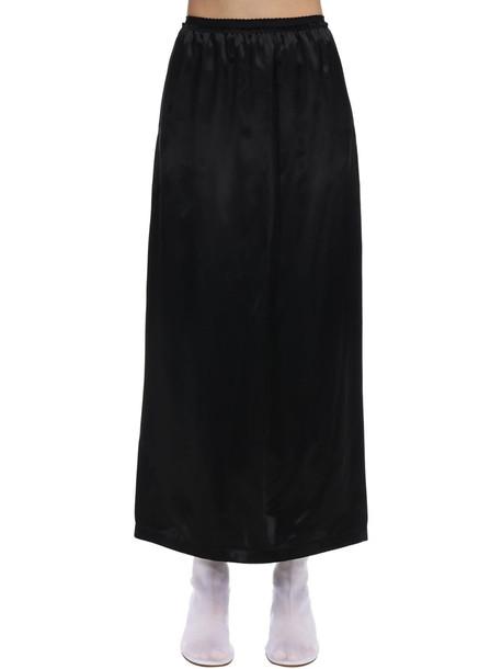MM6 MAISON MARGIELA Satin Skirt in black