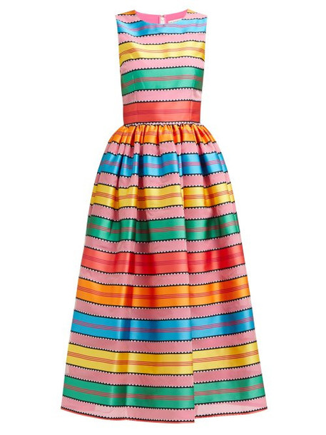 Mary Katrantzou - Astere Stripe Jacquard Satin Gown - Womens - Multi Stripe