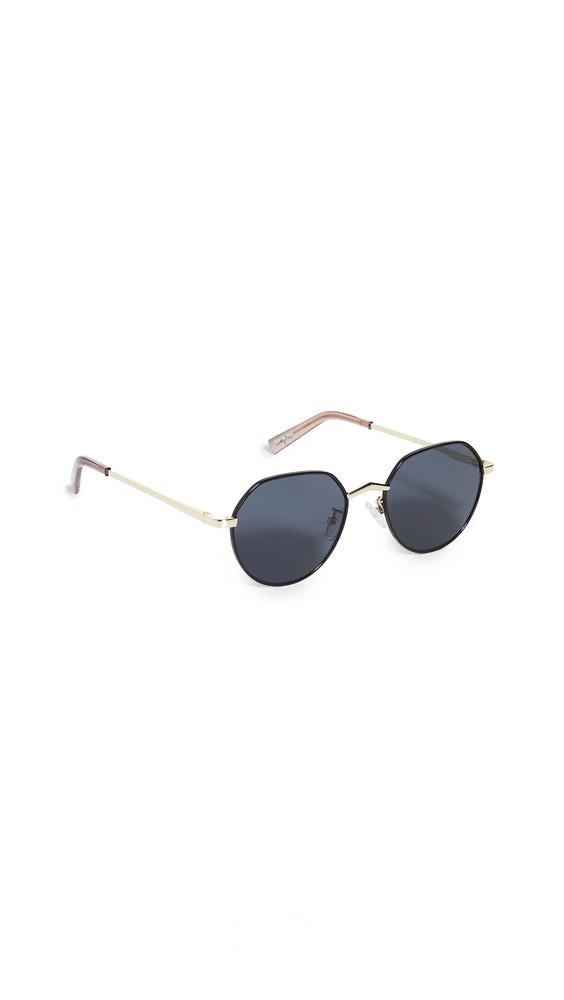 Le Specs Newfangle Sunglasses in black / gold