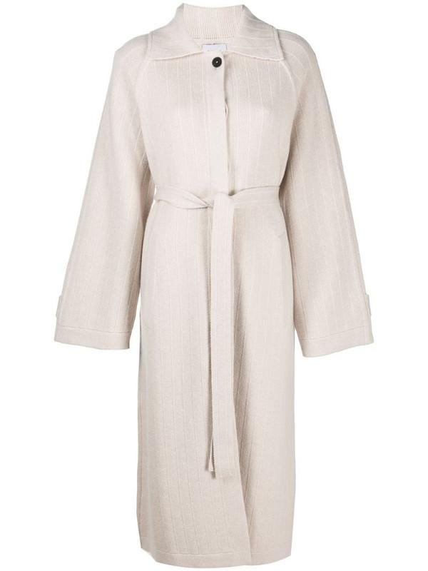 Barrie Balmacaan cashmere coat in neutrals