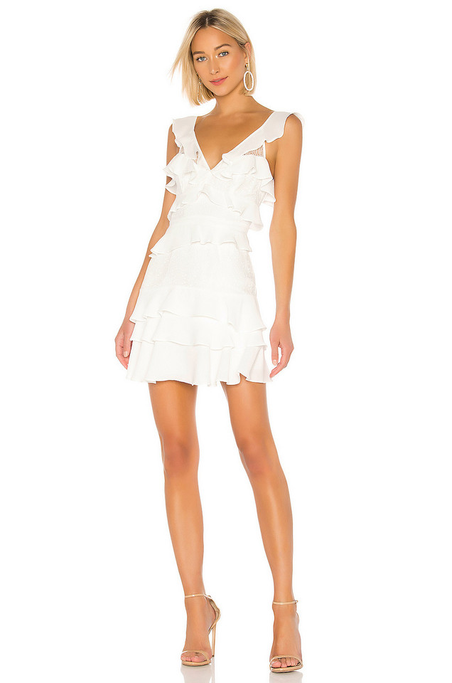 Bardot Babylon Dress in ivory