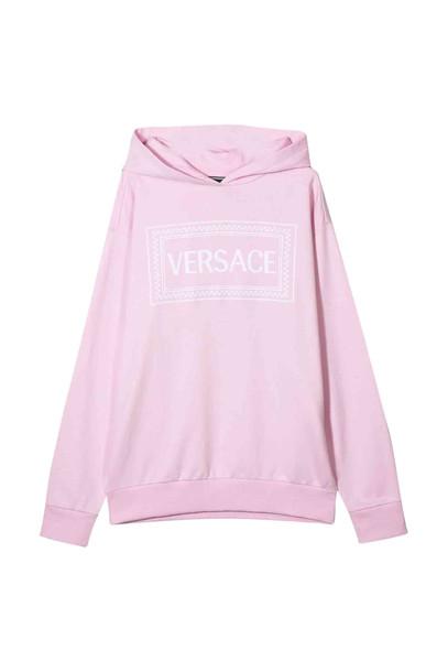Young Versace Cotton Sweatshirt in bianco