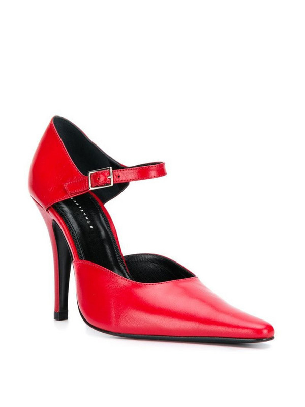 Dorateymur Groupie ankle strap pumps in red