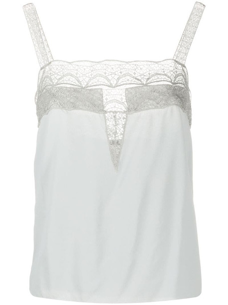 Alberta Ferretti lace trim camisole in grey