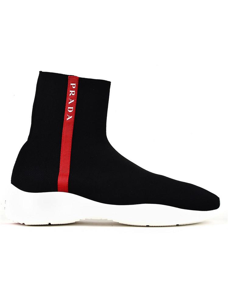 Prada Linea Rossa Prada High-top Sneakers in black