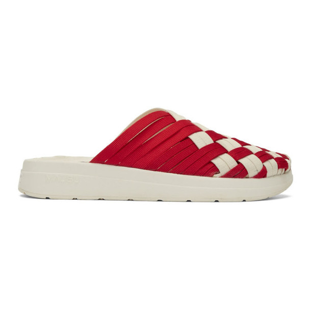 Missoni Red & White Malibu Sandals Edition Colony Sandals