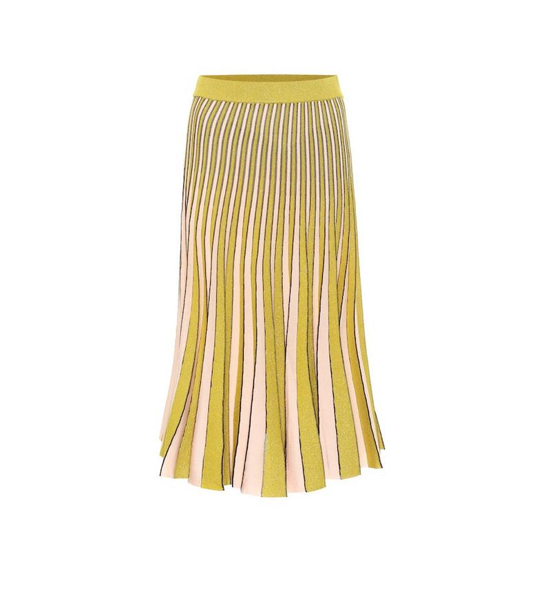 Baum und Pferdgarten Cyrilla metallic knit midi skirt in yellow