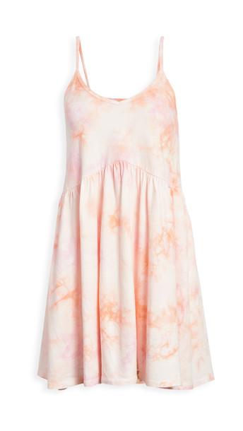 Z Supply Kona Hazy Tie Dye Dress in pink