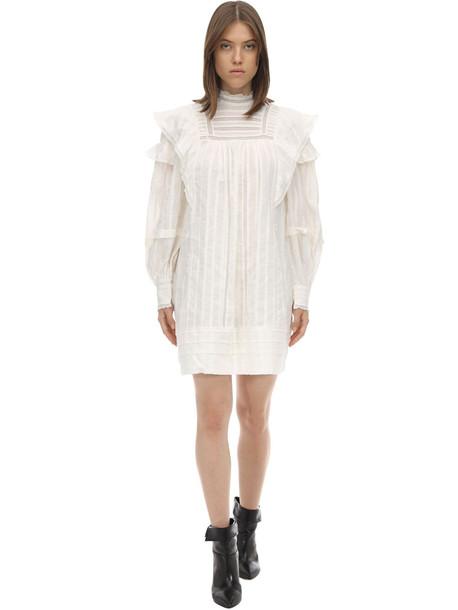 ISABEL MARANT ÉTOILE Patsy Ruffled Cotton Dress in white