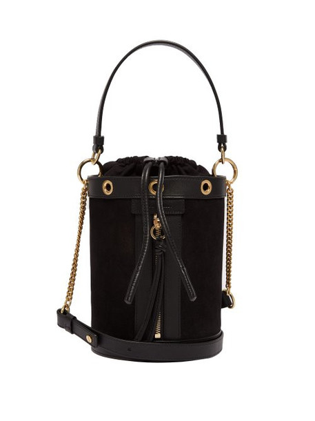 See By Chloé See By Chloé - Debbie Suede And Leather Bucket Bag - Womens - Black