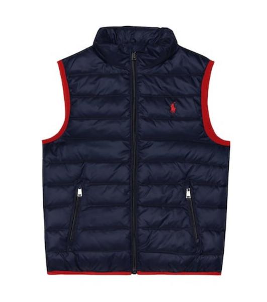 Polo Ralph Lauren Kids Quilted nylon vest in blue