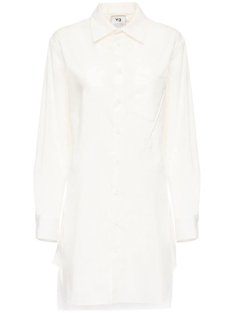 Y-3 Classic Cotton Blend Shirt in white