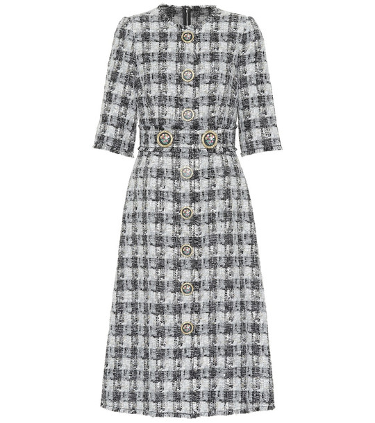 Dolce & Gabbana Tweed midi dress in grey