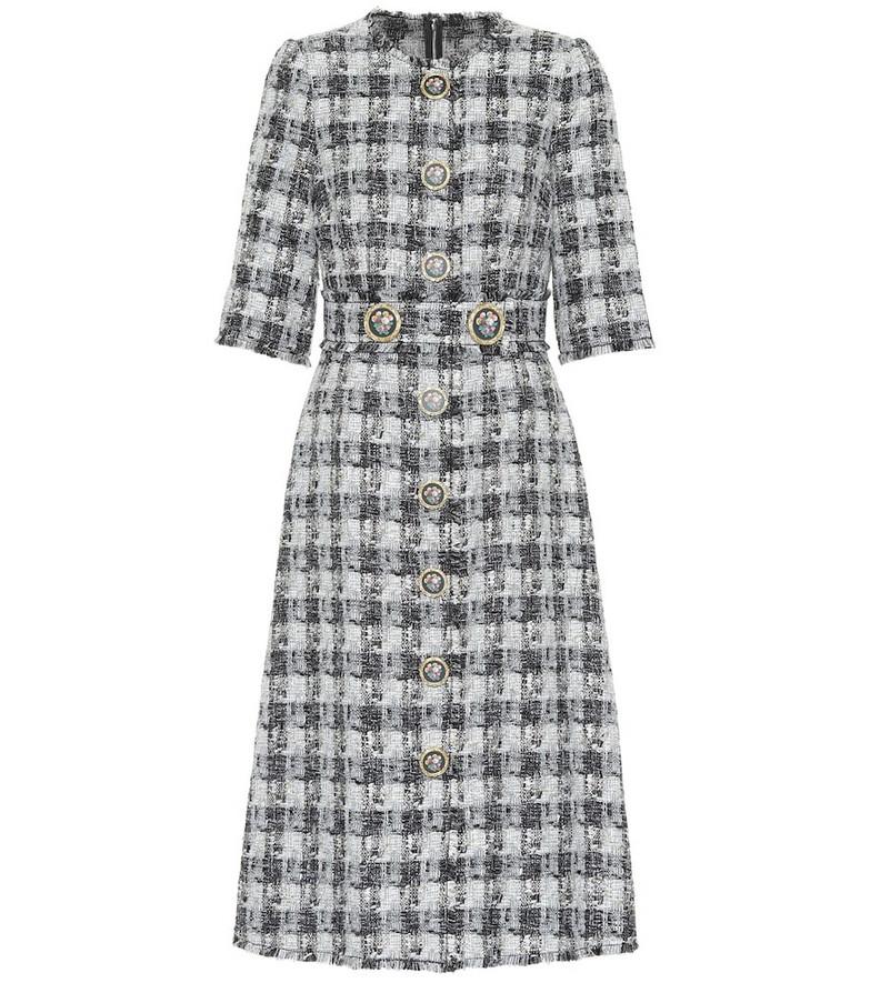 Dolce & Gabbana Tweed midi dress in grey