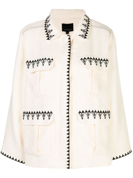 Cynthia Rowley Damen multi-pocket jacket in white