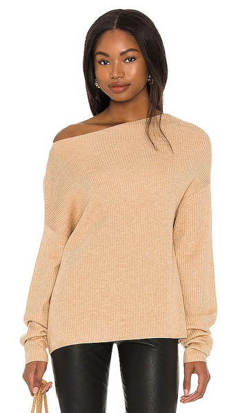 LPA Costa Sweater in Nude in camel