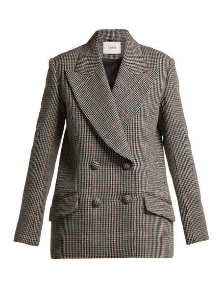 Erdem - Jasper Houndstooth Checked Wool Blazer - Womens - Black White