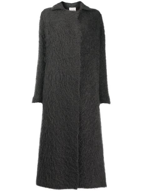 Alysi textured cardi-coat in purple