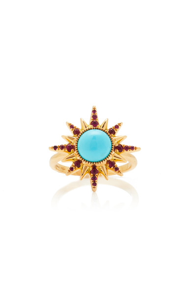 Jenny Dee Electra Maxima Turquoise Ring in blue