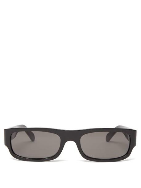 Celine Eyewear - Show Rectangular Acetate Sunglasses - Womens - Black