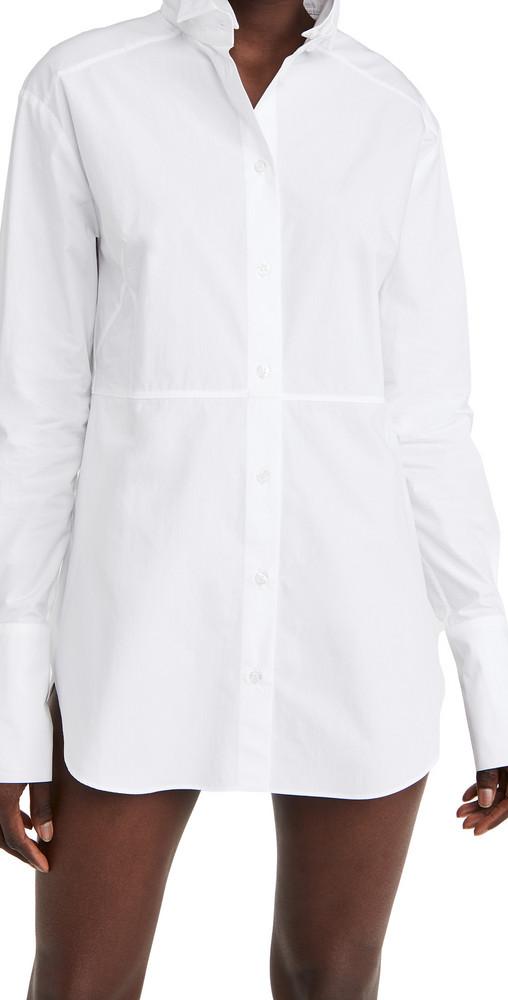 GAUGE81 Cotton Tuxedo Shirt in white