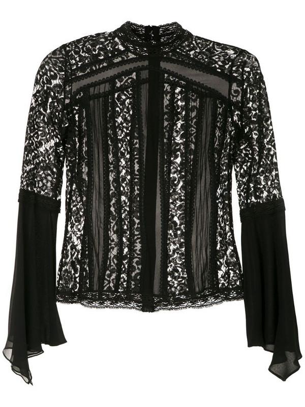 Martha Medeiros high neck blouse in black