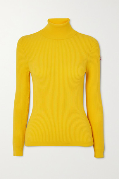 Fusalp - Ancelle Ribbed-knit Turtleneck Sweater - Yellow