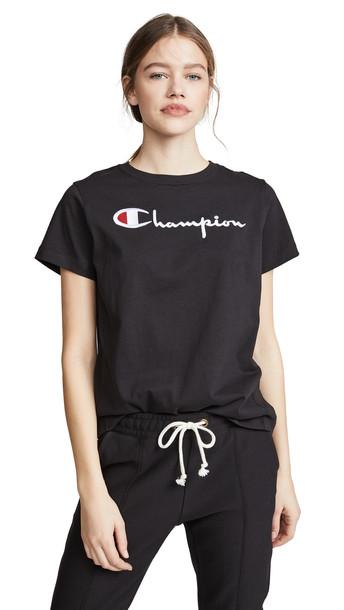 Champion Premium Reverse Weave Classic Script T-Shirt in black