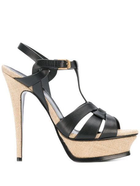 Saint Laurent Tribute 105mm sandals in black