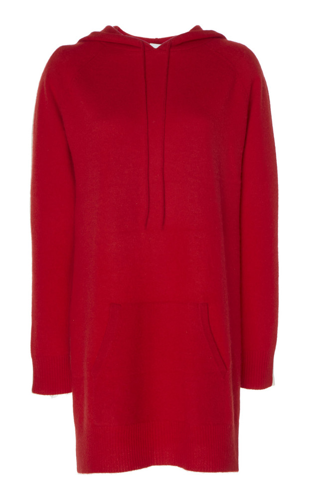 Madeleine Thompson Attis Hooded Cashmere Sweater in red