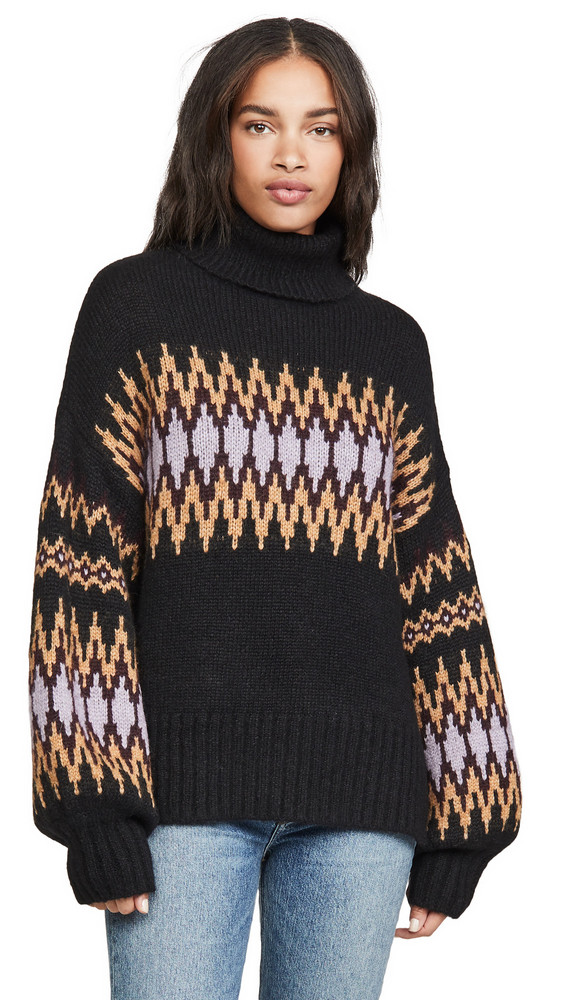 A.L.C. A.L.C. Tracey Alpaca Sweater in black / lilac