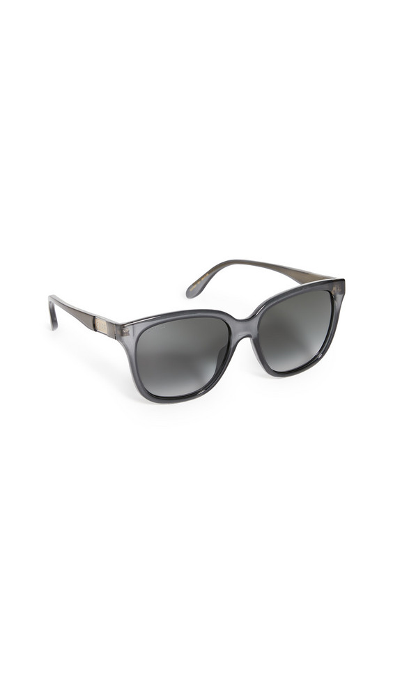 Gucci Wirecore Squared Acetate Sunglasses in grey