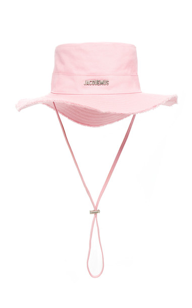 Jacquemus Le Bob Artichaut Cotton Bucket Hat in pink