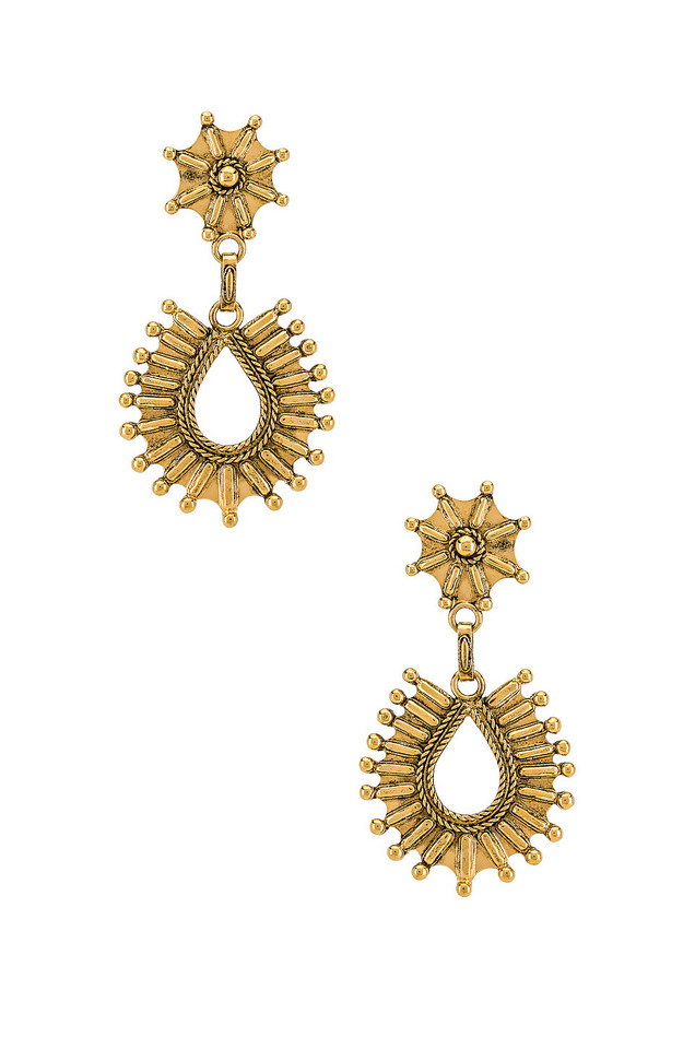 Vanessa Mooney The Drifter Earrings in gold / metallic