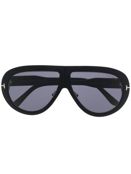 Tom Ford Eyewear Troy aviator-frame sunglasses - Black