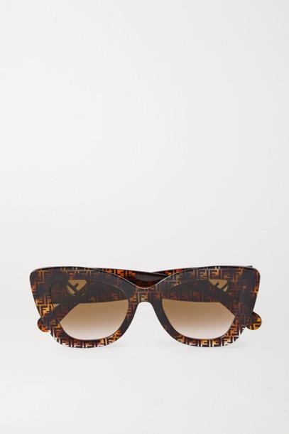 Fendi - Cat-eye Tortoiseshell Acetate Sunglasses