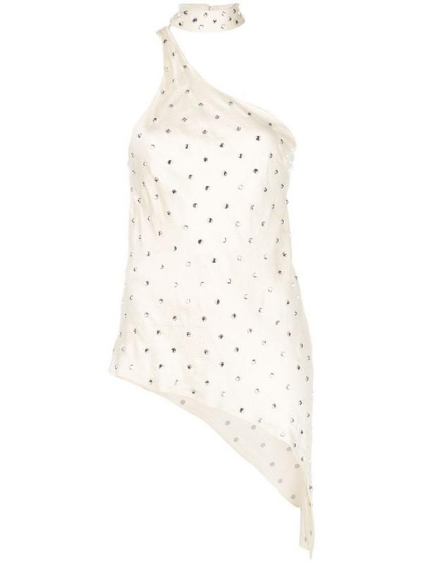 Haney Bowie embellished top in neutrals