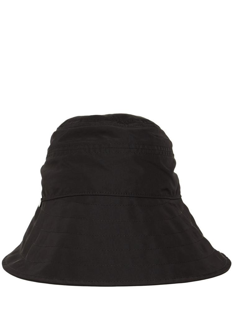 THE ATTICO Nylon Bucket Hat in black