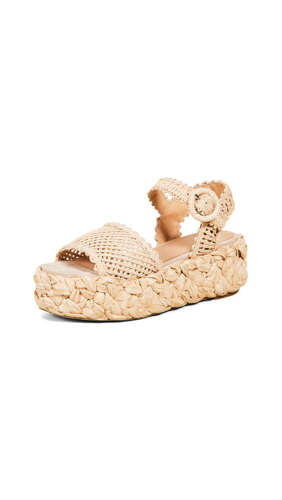 Paloma Barcelo Oda Sandals in natural