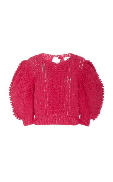 Carolina Herrera Hand Crochet Boxy Top Size: XS in pink