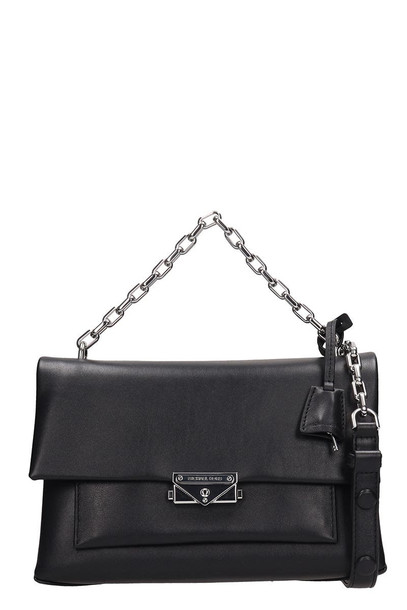 Michael Kors Black Leather Md Bag