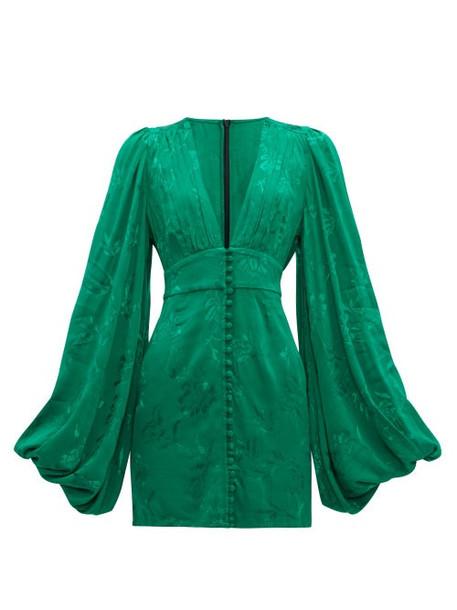 Rat & Boa - Isabella Floral Jacquard Mini Dress - Womens - Green
