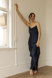 dress,black,silk dress,raw edge,spahgetti straps,silk slip dress,black dress,cowl neck,draped