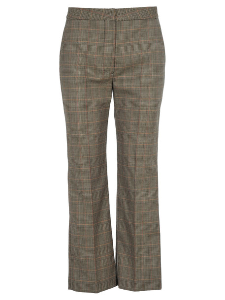Stella Mccartney Checked Flared Trousers in black