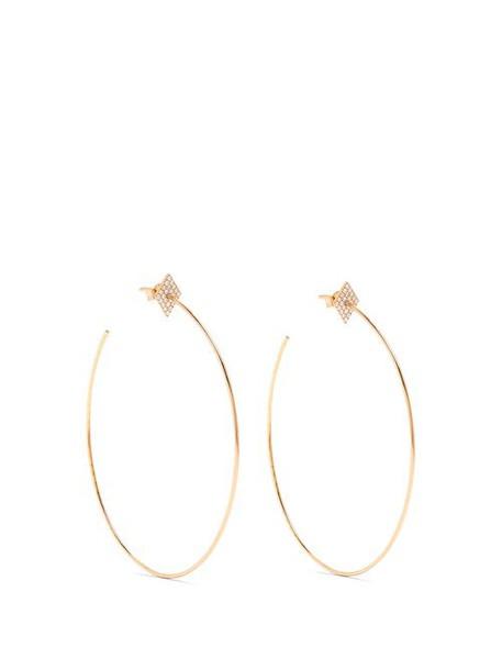 Diane Kordas - Diamond & Rose Gold Earrings - Womens - Gold