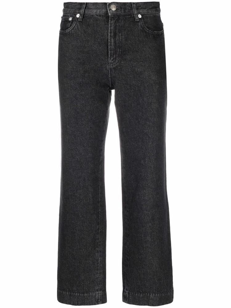 A.P.C. A.P.C. flared cropped trousers - Black