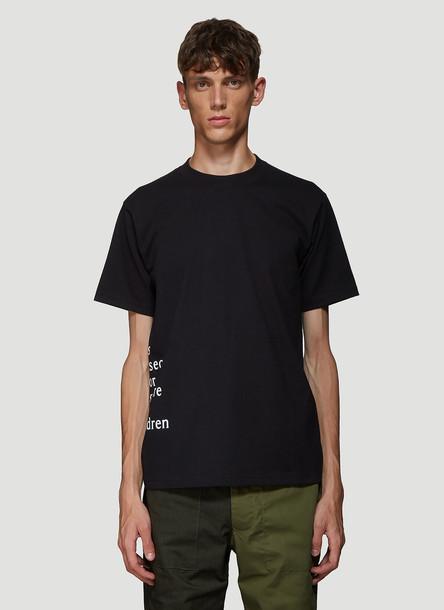 DIVISION (DI)VISION Distress T-shirt in Black size 2
