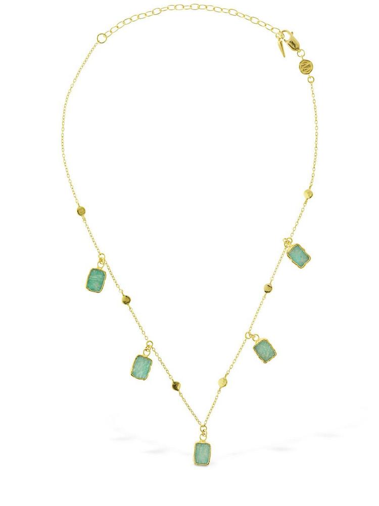 MISSOMA Amazonite Lena Chain Choker in gold / green