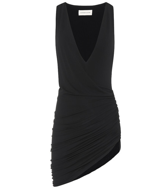 Alexandre Vauthier Asymmetric stretch-jersey minidress in black